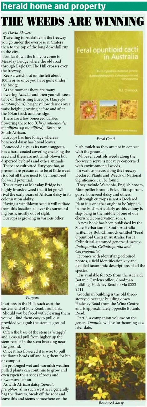 Cactus book The Weekender Herald review